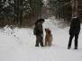 Taining im Schnee